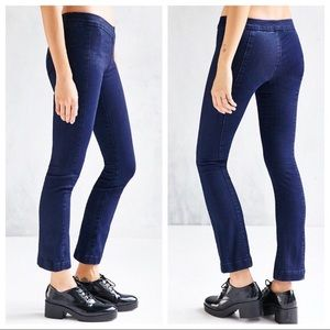 BDG cropped pull on flare jeans